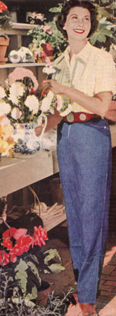 Sally always had fresh flower arrangements throughout her beautiful Woodside, CA home, which was designed by Gardner Dailey.