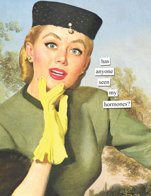 has anyone seen my hormones – Anne Taintor Birthday Cards