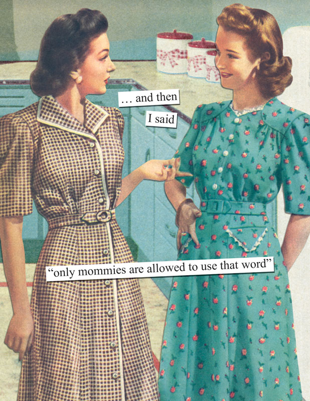 and then I said only mommies are allowed to use that word – Anne Taintor Birthday Cards